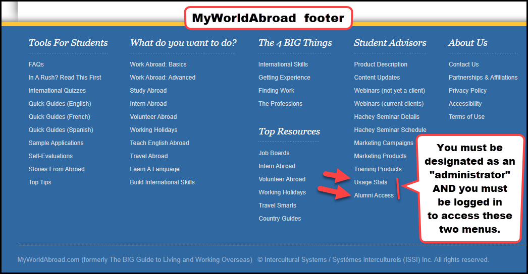 How To Access and Interpret MyWorldAbroad Usage Statistics